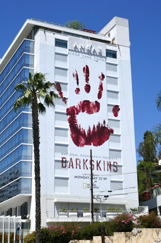Giant Barkskins series launch billboard