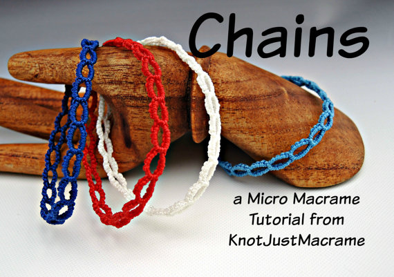 Micro macrame chains graphic from Knot Just Macrame.
