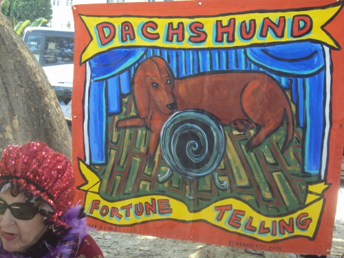 Fortune Telling at the 11th Annual Dachshund Winterfest