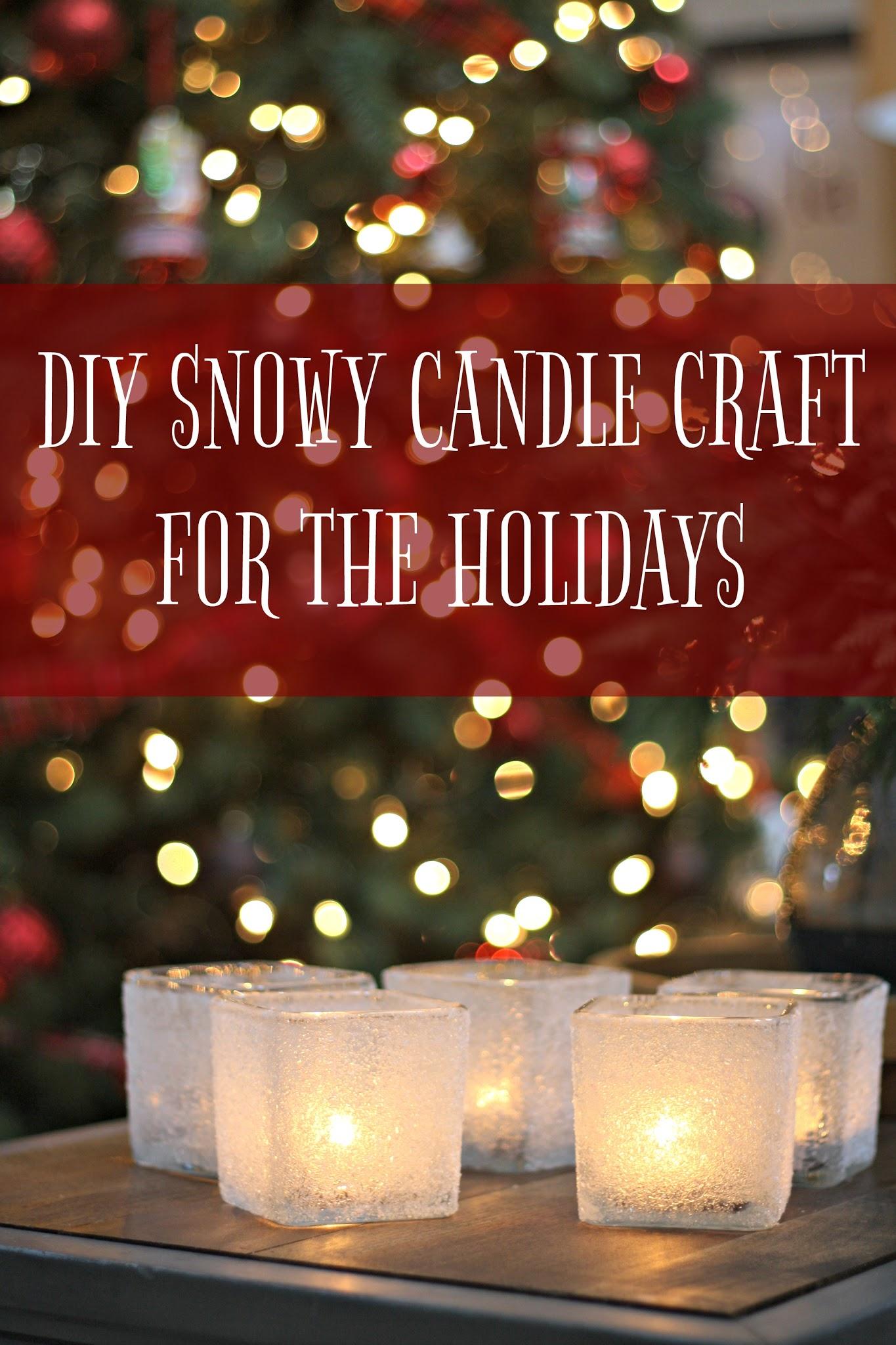 DIY Epsom salt candle craft