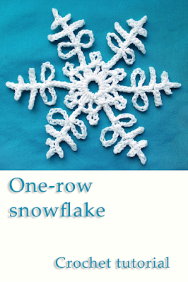 one-row crochet snowflake