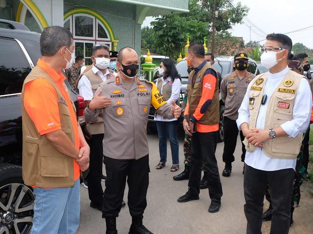 Kapolda Dampingi Kepala BNPB RI cek penerapan PPKM Mikro di Kota Jambi