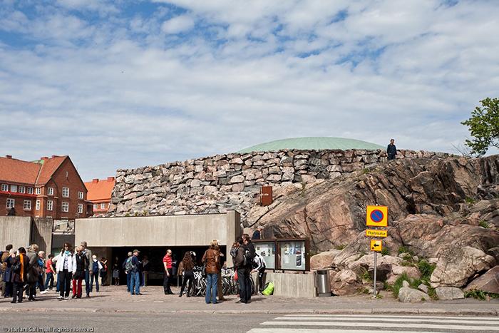Igreja na rocha em Helsínquia.