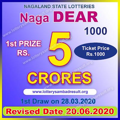 Lottery Sambad Bumper Result: Naga Dear 1000 Lottery 2020