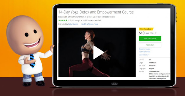 [67% Off] 14-Day Yoga Detox and Empowerment Course| Worth 30$