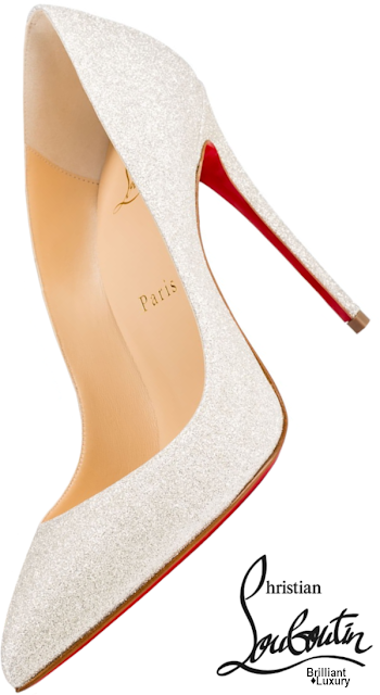 Brilliant Luxury♦Christian Louboutin White Glitter Pigalle Follies Pumps #shoes