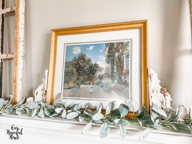 romantic French mantel decor gilded frame