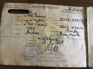 Simpenan Surat Mobil Antik Ford Consul Dijual