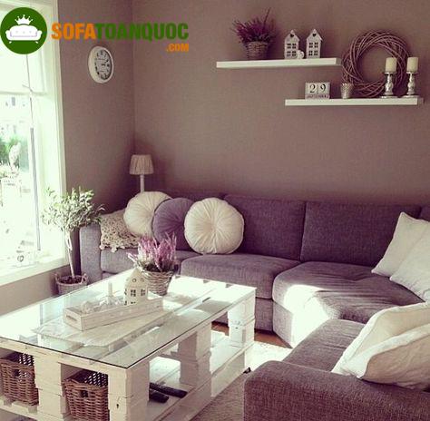 Sofa góc vải nỉ đẹp cho phòng khách