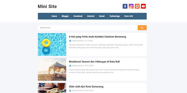3. Mini Site