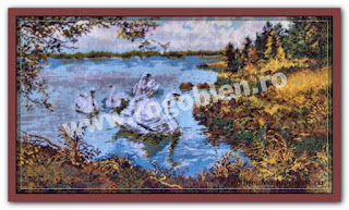 "Download embroidery scheme Rogoblen 6.16 ""Swans on the Lake"""