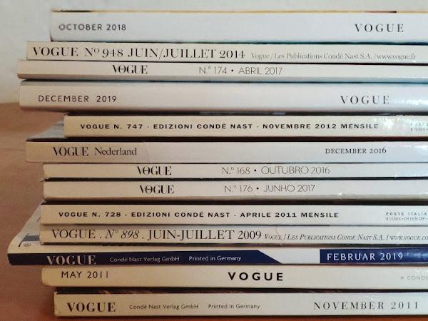 Mi colección de revistas Vogue internacionales