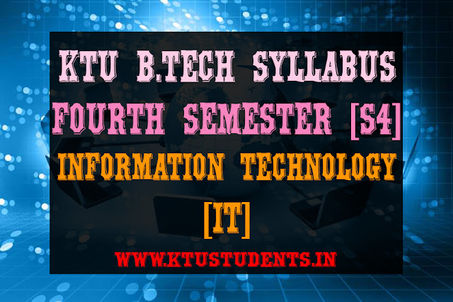 ktu it s4 syllabus