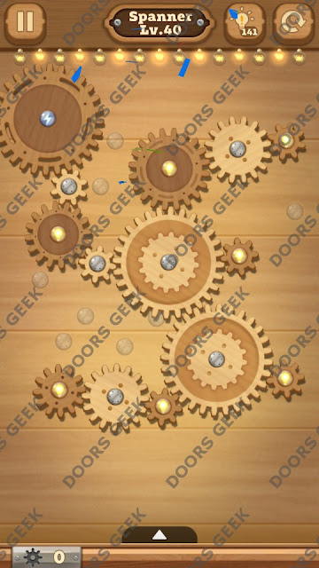 Fix it: Gear Puzzle [Spanner] Level 40 Solution, Cheats, Walkthrough for Android, iPhone, iPad and iPod