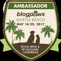 2017 BlogPaws Ambassador badge