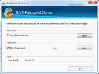 Cracking WinRAR Password