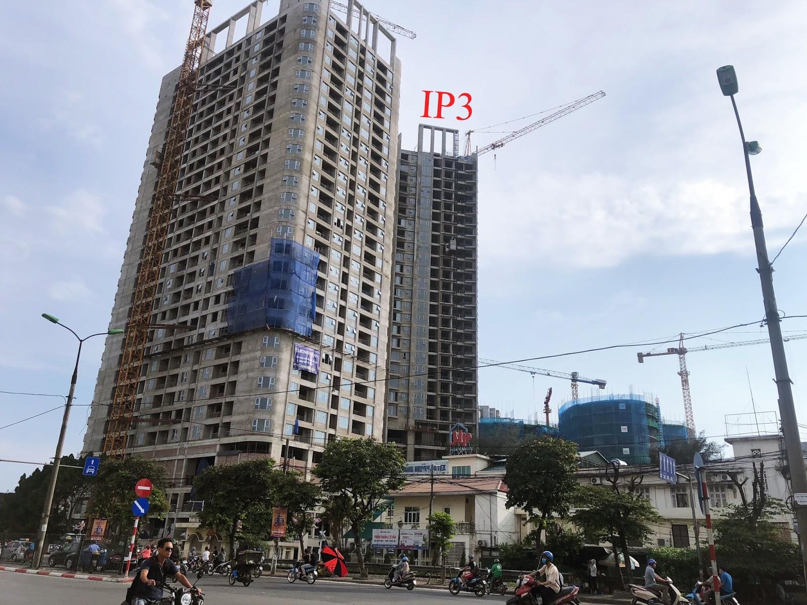 Tiến độ toà IP3 chung cư 360 Giải Phóng