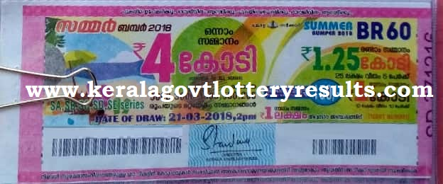 kerala lottery result 21-3-2018, kerala lottery result 21-3-2018, kerala lottery result summer bumper, summer bumper lottery result today