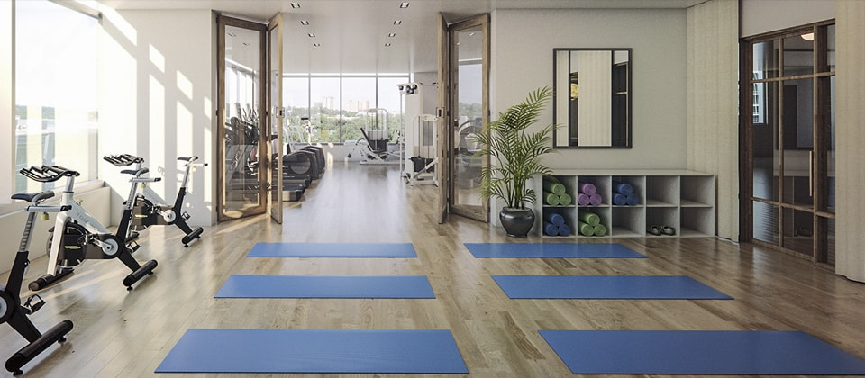 Phòng tập Gym hiện đại dự án chung cư Pentstudio