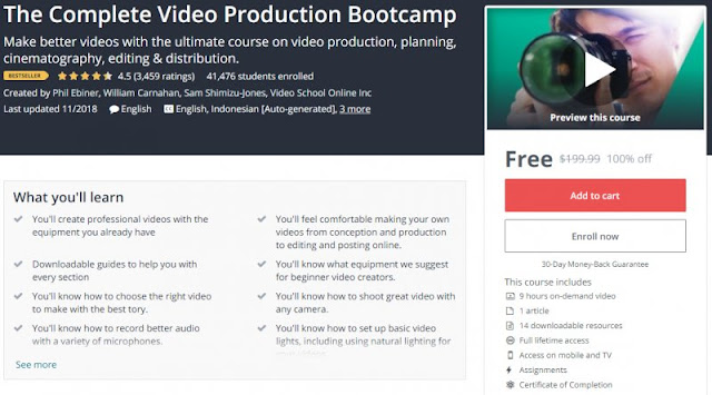 [100% Off] The Complete Video Production Bootcamp| Worth 199,99$