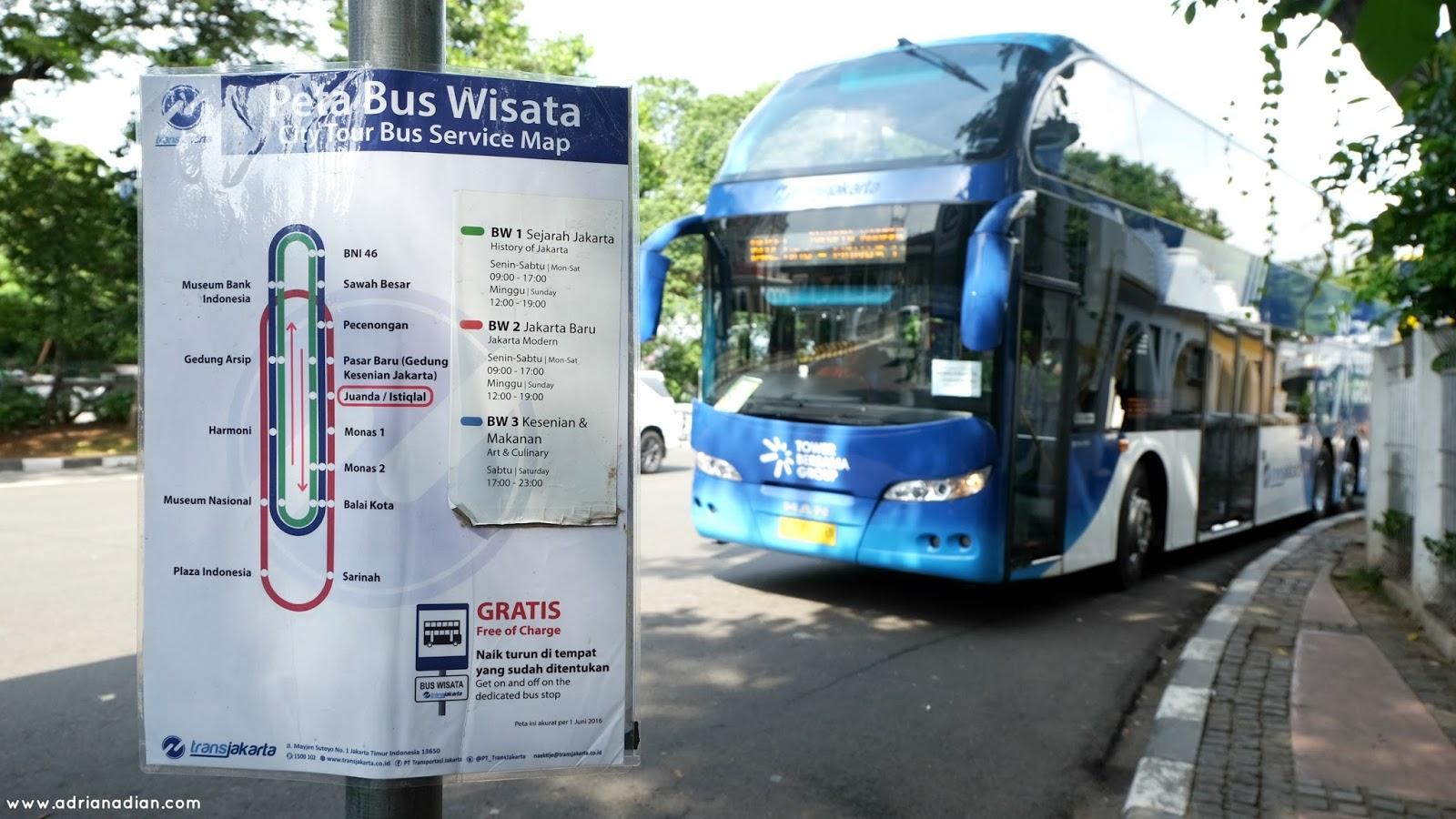 Rute Bis Tingkat City Tour Jakarta Terbaru 2016