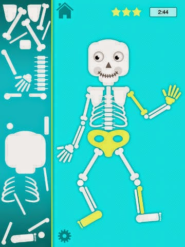Benny Bones skeleton app used for Halloween theme