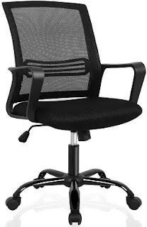 Swivel Lumbar Support Desk Task Chair Modern Ergonomic Desk Chair for office