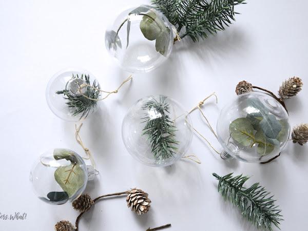 Minimalist Greenery Christmas Ornaments
