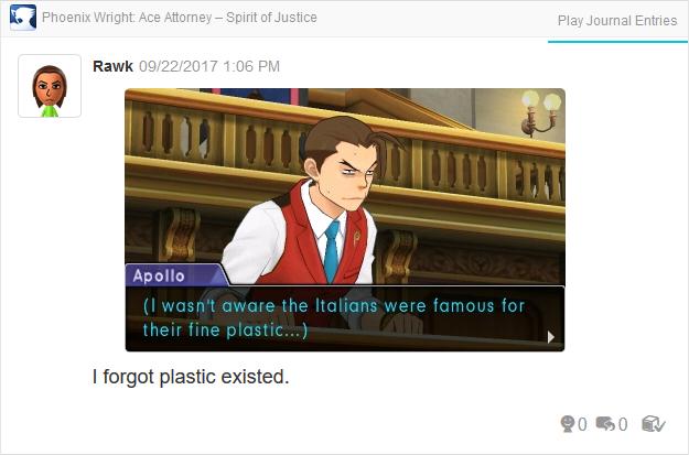 Phoenix Wright Ace Attorney Spirit of Justice Apollo Italians famous for fine plastic