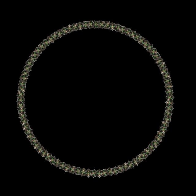 marco circulo azul