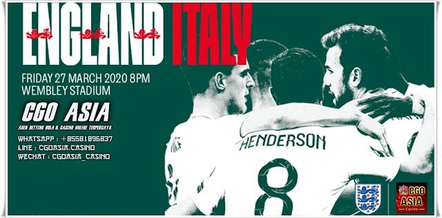 Solidaritas Inggris dan Italia di lapangan Wembley 27 maret 2020 - Rumahsport.com