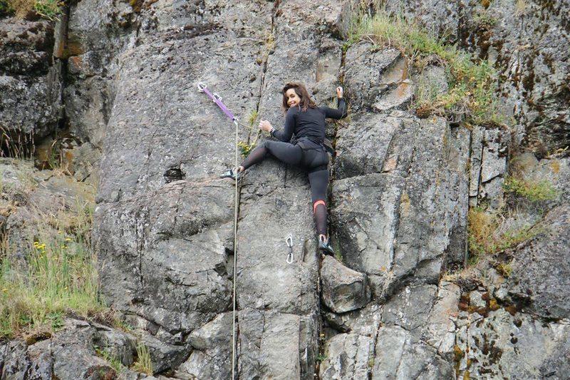 Juanita Ringeling relata cómo aprendió a hacer escalada deportiva en roca