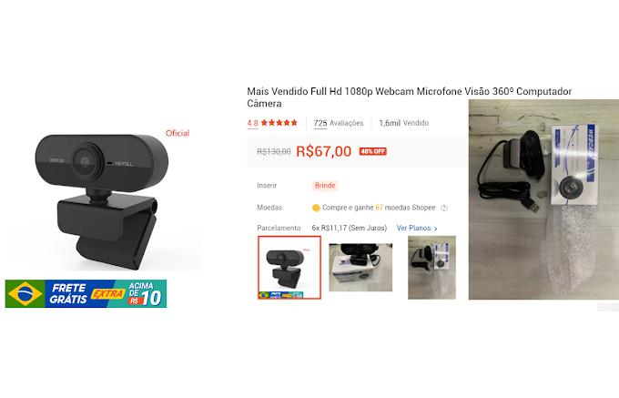 ★ WEBCAM FULL HD - Uma excelente webCam com Microfone visão 360º