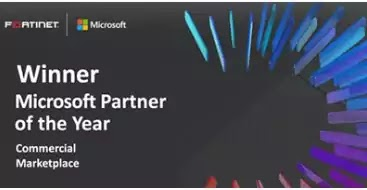 Fortinet - Winner of Microsoft's 2020 Commercial Marketplace Partner of the Year