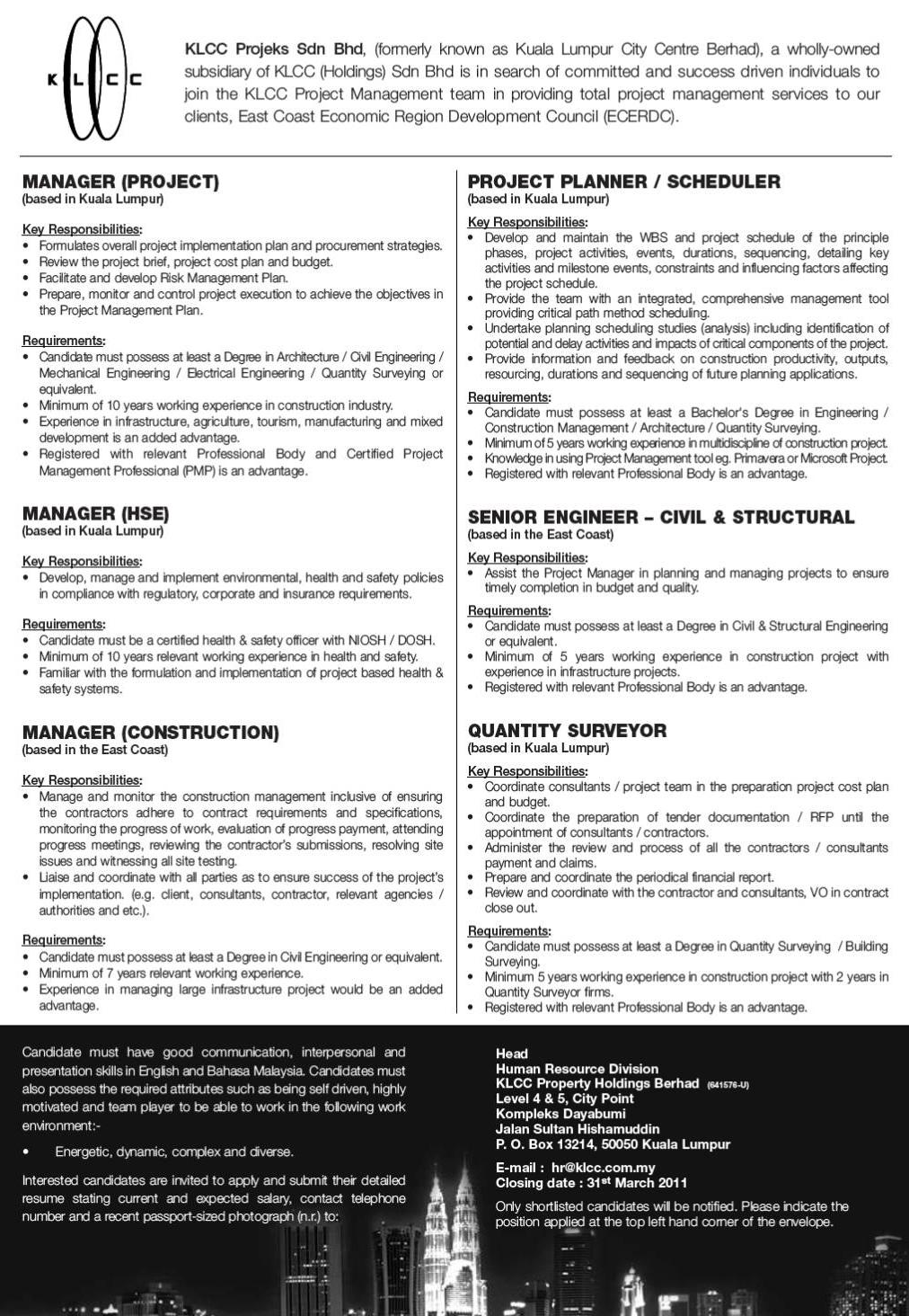 Kl Sentral jobs now available. Ads Reviewer, Customer Service Representative, Front Desk Agent and more on buzz24.ga