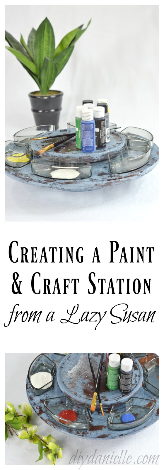 DIY Lazy Susan Craft Station