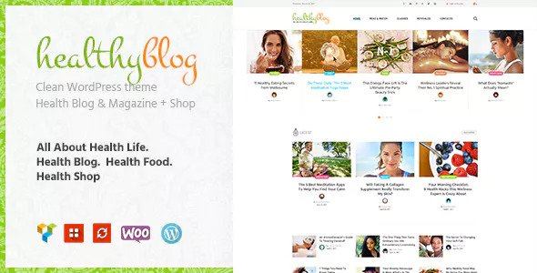 Blog amongst Online Store WordPress Theme Free Download Healthy Living v1.2 – Blog amongst Online Store WordPress Theme Download
