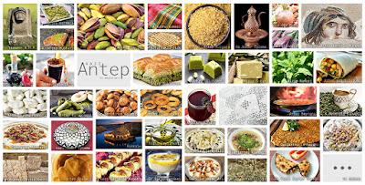 Gaziantep'in meşhur şeylerini gösteren resimlerden oluşan kolaj