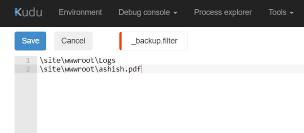 Configure a Backup for your Azure App Service