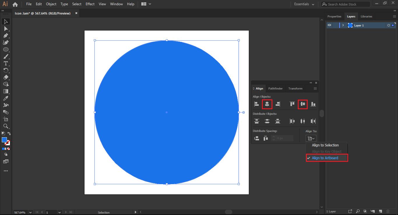 Tahap 2: Membuat Lingkaran Icon