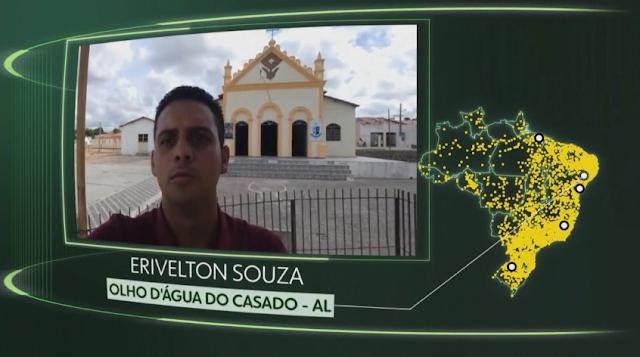 """Morador de Olho D'Água do Casado/AL, tem vídeo exibido no Programa Como Será?, no quadro """"O Brasil que eu quero"""""""