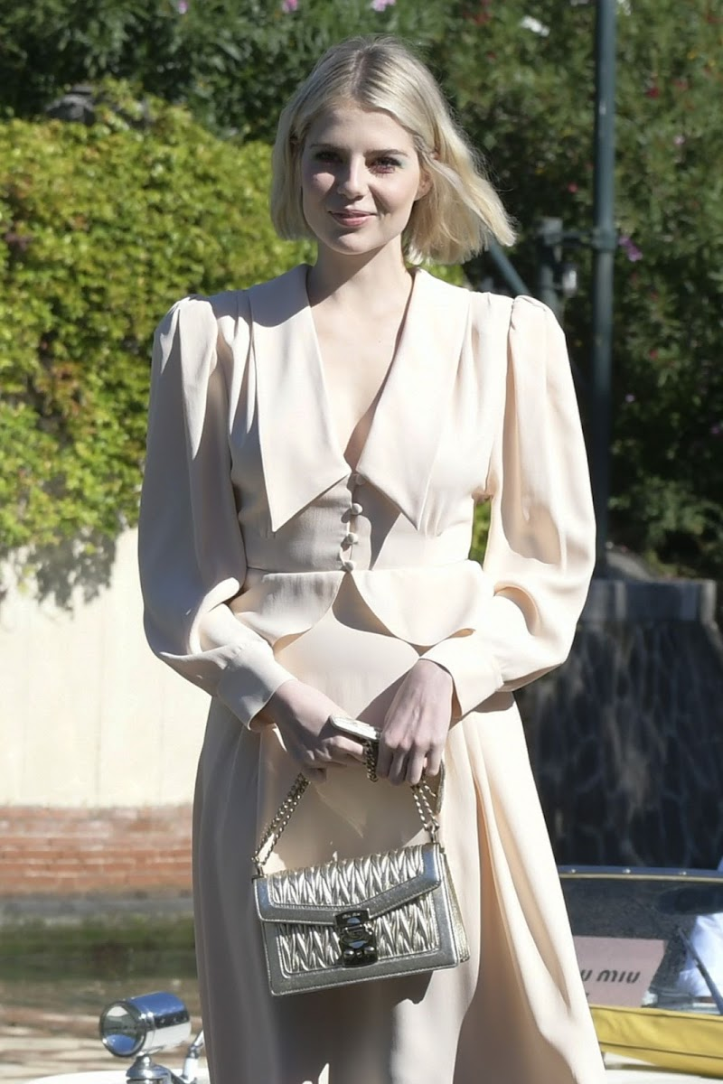 Lucy Boynton Clicked Outside at 2019 Venice Film Festival 3 Sep-2019