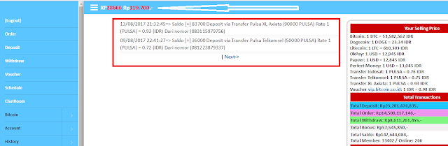 Bukti penukaran pulsa gratis Axis dengan Uang Cash di Sindonesia.net
