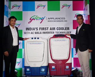 Godrej Appliances forays into Air Cooler category – Introduces India's first coolers with Inverter technology