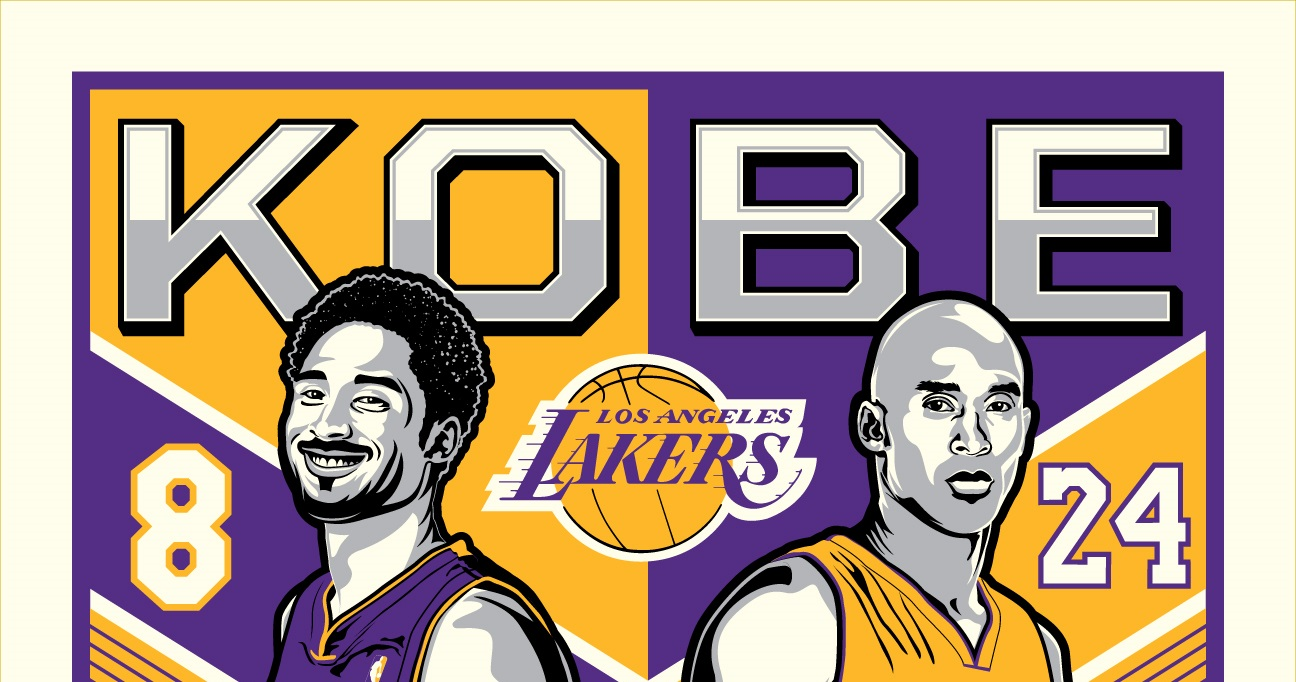 "f36a1ac6f1e9 Los Angeles Lakers ""Legend of Kobe Bryant"" Screen Print by Stolitron x  Phenom Gallery"