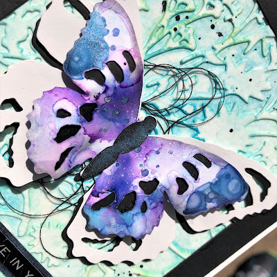 Tim Holtz Sizzix Tattered Butterfly Distress Oxide Sprays Alcohol Pearls Tutorial by Sara Emily Barker https://frillyandfunkie.blogspot.com/2019/03/saturday-showcase-tim-holtz-tattered.html 24