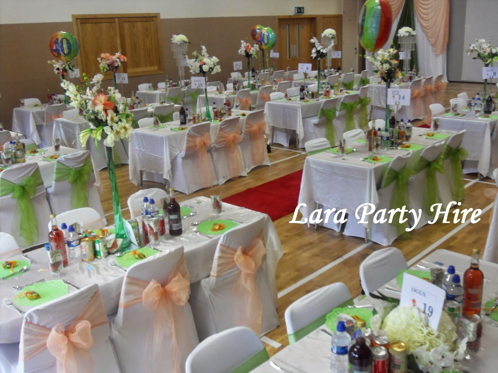 Chair Cover Hire Wembley Bedroom Deals Lara Party Crystal Chandelier Table Centerpiece