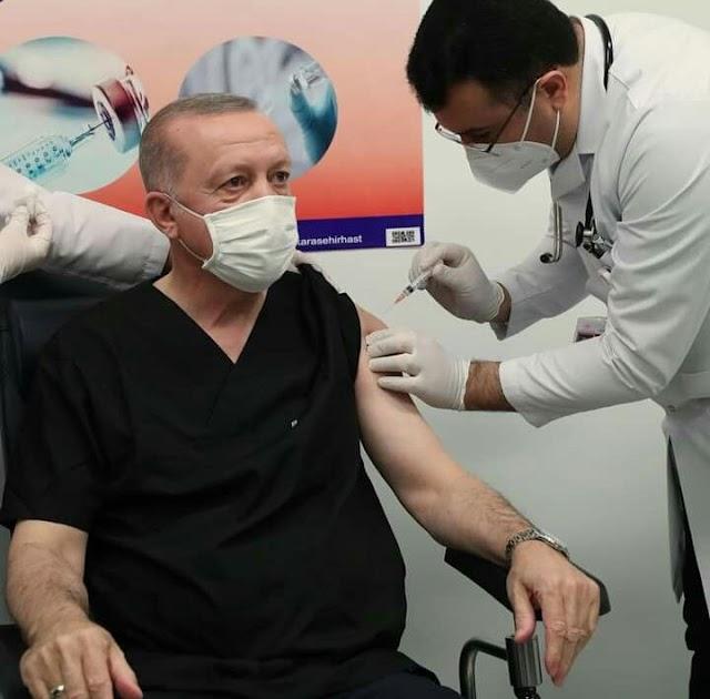 Erdogan Juga Menggunakan Vaksin Sinovac dari Tiongkok