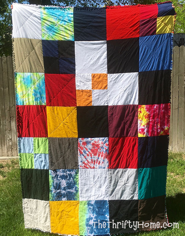The Thrifty Home Easy Graduation T Shirt Rag Quilt