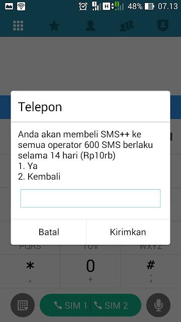 tarif 600 sms tri rp10000 murah 2018
